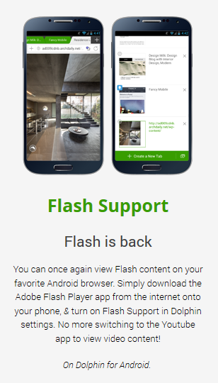Dolphin Flash Support